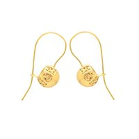Wholesale hot sale jewelry gold plated christmas earrings charms dangle chandelier