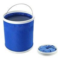Wholesale Creative New Car Washing Folding Bucket Outdoor Portable Camping Fold Fishing Bucket L