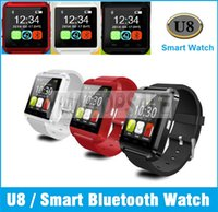 Wholesale Bluetooth Smartwatch U8 Smart Watch U Watch Wristband For iPhone S S Samsung S4 Note Note HTC Smartphones Android Phone