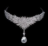 Cheap 2015 New Women Princess Flower Shape Water Drop Clear Austria Crystal Crown Tiara Wedding Bridal Hair Jewelry Accessory