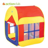 Wholesale Colorful Casa Tent Children Beach Play House Indoor Outdoor Toys Multi Function Baby Tents Foldable Kids House With WindowHT2395