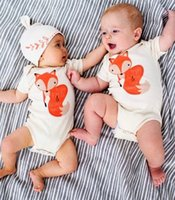 carter's bodysuit - 2016 New Baby Boys Girls Cute Fox Triangle Romper Bodysuit Playsuit Outfits Clothing