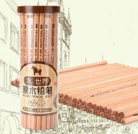 Wholesale Deli Log Pencils Healthy Without Painting High Grade Graphite Black Lead Comfortable Hexagonal School Kids Pencils