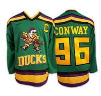 Wholesale Men Hockey Anaheim Charlie Conway Jersey Best Mighty Ducks Movie Hockey Jerseys Green Charlie Conway Away Sewn On