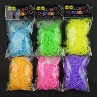 Cheap Hot Glow in the Dark Loom Jelly Bands Rubber Bands Loom Bracelets (600 bands + 24 clips) 7 Colors