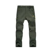Wholesale new arrival Casual Hiking Pants Men Pantalones Fishing Full Length Thick Fleece Solid Hiking Trousers high quality