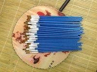 el envío al por mayor-libre de 6mm * 19cm del arte del clavo de la pluma, pincel de pintura acrílica, madera del cepillo de pintura de la pluma, pluma conjunto Consejos para el bricolaje