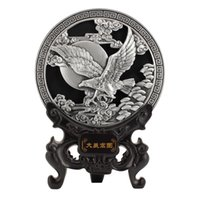 silver eagle - Antique Silver Eagle Activated Carbon Carving Creative Home Furnishing Living Room Decoration Interior Decoration Birthday Celebration Craft