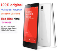 Wholesale shipping free original Xiaomi Redmi Note G LTE x720 Xiaomi hongmi redrice Note quot G RAM G ROM MP Qualcomm Quad Core phone
