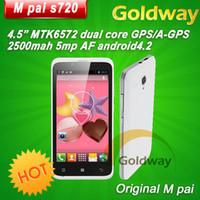 Wholesale M pai S720 MTK6572 Dual Core Mobile phone Android RAM MB ROM GB Inch FWVGA Screen G Dual sim Dual Camera Russian