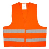 Wholesale Multifunctional Safety Vest High Visibility Jacket Reflective Warning Clothes Conspicuity Polyester Orange chaleco reflectante
