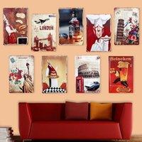Wholesale Vintage Classic Craft Iron Sheet Picture Tin Plaque for Home Bar Pub Decor Neu x30cm Decoration Craft
