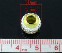 aluminium elements - 100 Mixed Silver Plated Carved Lantern Aluminium Beads Fits Charm Bracelet x9mm Beads Cheap Beads