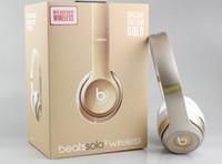 Wholesale Used Solo Wireless Headphone Noise Cancel Bluetooth Headphones Headset with seal retail box Solo Headphones