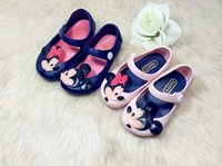 Wholesale 2015 Cartoon Cute Mickey Minnie Summer Children Baby Girls Sandals First Walkers Jelly Kids Shoes summer rain boots in stock