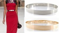 Wholesale Silver Golden alloy Waist Belt Sashes Women Fashion Accessories Gold Fashion Accessories Cummerbunds metal female casual wide belt