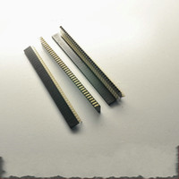 Wholesale mm X40 pin Right Angle and Straight female header pins Single Row mm Female Pin Header