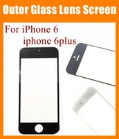 clear cover lens - Spare parts touch screen replacement for iphone iphone plus front cover glass lens outer touch screen clear white black blue SNP007