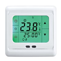 Wholesale Room Thermostat Temperature Controller Termostato Weekly Programmable Touch Screen Green Backlight Underfloor Heating Thermostat