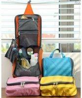 Wholesale Large size Camping Ladies Travel Toiletry Wash Bag Makeup Case Hanging Grooming Make Up Organizer Case