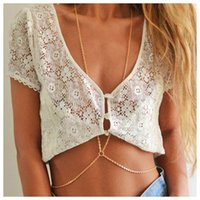 Wholesale 2016 New Sexy Women Summer Beach Bikini Accessories Cross Necklace Body Chain Link Waist Belly Chain Women Nickle