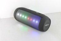 Wholesale Digital Wireless Portable Multi function Colorful Flashlight NFC Bluetooth Speaker Q6 with FM Radio function