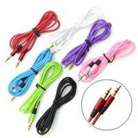 Wholesale 3 mm AUX audio cables male to male Stereo Car Extension audio Cable for MP3 for phone