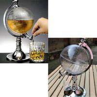 Wholesale Novelty Globe Shaped Beverage Liquor Dispenser Drink Wine Beer Pump Single Canister Pump High Quality