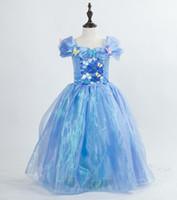 Wholesale 2015 Hot Sale Cinderella Dresses Tutu skirt Children s dresses With Fashion Prom Dress Kids costumes Party Dress Factory outlets Wholes