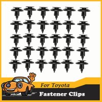 auto parts belts - 30pcs Bumper Fender Hood Retainer Fasteners Clips Auto Car Black Plastic fastener For Toyota Lexus Part No A3