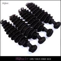 Cheap Brazilian Hair Weave Deep Wave 100% Unprocessed Virgin Hair Bundles 4Pcs Lot Peruvian Indian Malaysian Remy Human Hair Extensions HQhair