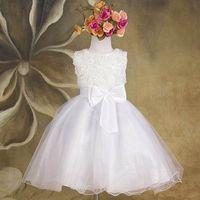 little girls clothing - 2015 Flowergirls Princess Flower Girl Dresses For Wedding Patry Brand Rose Lace Tutus Little Baby Girls Dress Children s Clothing XJL8129