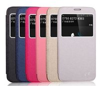 Wholesale Slim Ultra Thin Business Style PU Leather Wallet Windows Open Case Cover For Samsung Galaxy I9600 S5 P37 CellPhone
