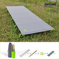 Wholesale 71 inch Ultra lightweight Super strong Portable Foldable Camping bed Sleeping Cot folding travel bed medical military hiking