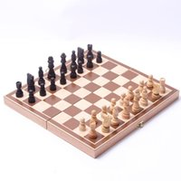 Wholesale Wooden International Folding Board Chess Pieces Set Staunton Style Chessmen Collection Portable Chesses Game