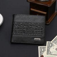 mam - 2015 New Mam Wallets Luxury brand Men Wallet Genuine Leather Wallet Crocodile stitching Alligator Pattern short Purse