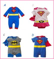 Wholesale 2015 New Styles Baby One Piece baby Rompers boys girls Superman style Romper Super Man Rompers Batman Clothes fast shipping