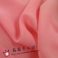 Wholesale Textile fabrics Watermelon pink tulle fabric composite silk chiffon unlined upper garment The big pendulum skirt georgette