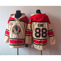 Wholesale Stylish Ice Hockey Hoodies Blackhawks Patrick Kane White Hockey Wears Lace Up Sports Jacket Team Outdoor Apparel Hockey Sports hoodies