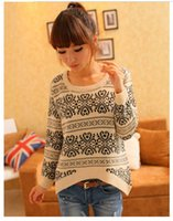 Cheap Free Shipping long sleeve oversized sweaters for women Vintage totem loose pullovers Cardigan Tops women #107