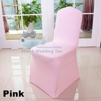Wholesale PINK Color Spandex Chair Cover Strech Wedding Banquet Chair Cover