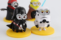 Wholesale New Hot Slae set Minion Action Figure Despicable Me Cosplay Star Wars Samurai Anime Figure Christmas Gift Toys