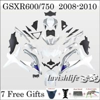 abs unique gift - Unique Cowling Kit For SUZUKI GSXR750 GSX R600 K8 Black White Painting Motorcycle Fairing Racing Body Work Gifts