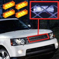 amber led warning lights - 12 LED Amber Vehicle Emergency Flash Light Strobe Lights Car Flash Warning Lights for Front Grille Deck K2696