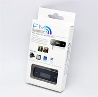Wholesale 50pcs Wireless mm Car FM Transmitter For iPod iPad iPhone s Galaxy S2 S3 HTC with retail box