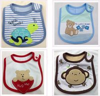 animal delivery - Baby Bibs Cotton Baby bib Infant saliva towels Baby styles Random delivery Three Layer bib Mark Baby wear