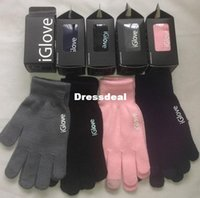 Wholesale 20pcs pairs Iglove Unisex Touch Screen Glove Hand Warm for iPhone smartphone color touch glove I glove