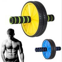 Wholesale Dual Abs Abdominal Roller Wheel Exerciser Workout Fitness Roller Exercise Gym with Knee Pad
