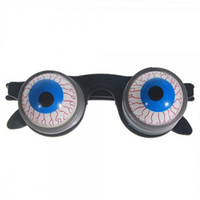 Wholesale 2015 Halloween Scary Horror Shock Pop Eyes Eyeball Dropping Glasses Funny Children Glasses Joke Horror