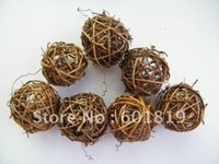 Wholesale 80pcs Natural twig ball cm Ball Twig Vine Sphere Ball Can be Hung Add Lights or Greenery